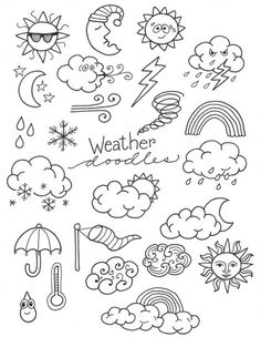 Marie Browning here with some weather doodles. For this post, I'm presenting some easy Weather Journal Doodles for your planners, journals, tags a Doodle Designs, Doodle Patterns, Zentangle Patterns, Easy Zentangle, Doodles Zentangles, Easy Drawing Designs, Drawing Ideas, Art Patterns, Drawing Art