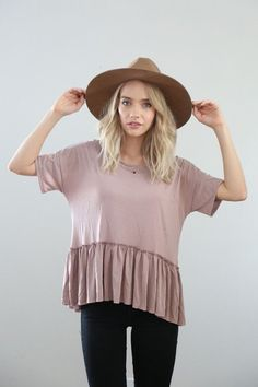 The Reading Room Peplum in Dusty Rose from Piper & Scoot Style Outfits, Fall Outfits, Casual Outfits, Cute Outfits, Spring Summer Fashion, Autumn Winter Fashion, No Rain, Look At You, Look Chic