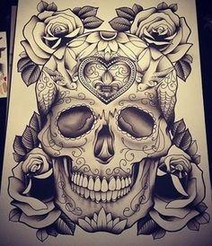 Skull n roses by WretchedDevilish on DeviantArt