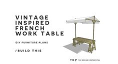 The Design Confidential Free DIY Furniture Plans How to Build a Vintage Inspired French Work Table
