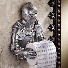 A Knight Tissue Holder for Your Throne Room - Best gear and gadgets for men. The place to find cool stuff for guys.
