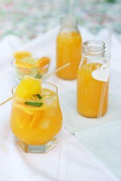 Narancsos limonádé Cocktail Drinks, Cocktails, Orange Juice, Healthy Drinks, Smoothie, Beverages, Food And Drink, Cooking Recipes, Homemade