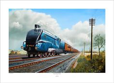 'Pride of Great Britain' - by Keith Hill / World Speed Record holding locomotive the Mallard.    Limited Edition Giclee Print16