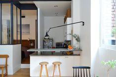 Departamento pequeño 2 ambientes con decoración nórdica vintage 6
