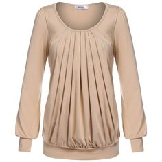 Scoop Front Drape Fold Top