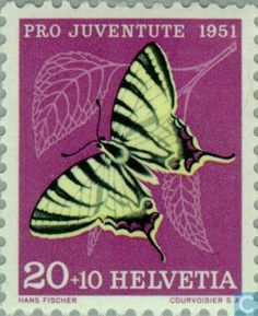 Switzerland [CHE] - Butterflies 1951