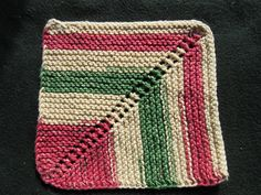 Ravelry: Project Gallery for Reverse Miter Dishcloth pattern by Ari Whitlow