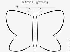 Butterfly symmetry painting - have kids use paint and a q-tip to create a design on one side of the butterfly, then fold and see what happens to the other side!  Great for a life cycles unit.