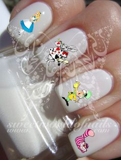 Alice in Wonderland Nail Art Nail Water Decals