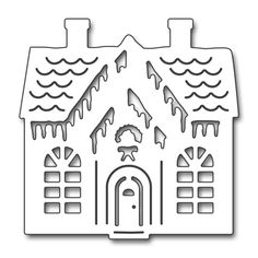 Add sweet design to your Christmas papercrafting projects with the Gingerbread Cottage Creative Die by Penny Black. The package includes one thin metal die that Christmas Themes, Christmas Crafts, Christmas Decorations, Christmas Ornaments, Diy Crafts For Gifts, Paper Crafts, Housewarming Card, Christmas Stencils, Black Christmas