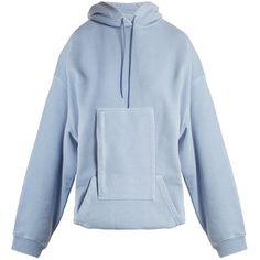 Balenciaga Hoodie sweater ($750) ❤ liked on Polyvore featuring tops, hoodies, hooded sweatshirt, hoodie top, balenciaga top, hooded pullover and blue hooded sweatshirt