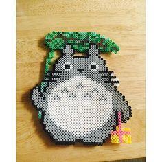 Totoro perler beads by ellyttoi