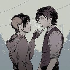 A complication of really good frerard fanart I like. Gerard And Frank, Emo Art, Manga Anime, Mcr Memes, Frank Iero, Fanart, Emo Bands, Fall Out Boy, My Chemical Romance