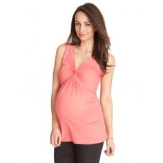 91c3c5530c57f Front+Twist+Top+Coral Maternity Style
