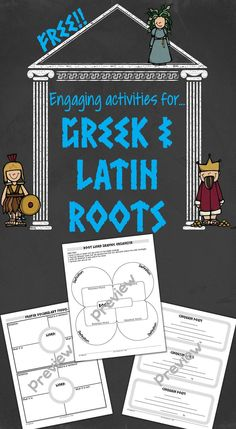 FREE activities that are perfect for Greek and Latin root word study. Vocabulary Instruction, Teaching Vocabulary, Vocabulary Activities, Free Activities, Teaching Tips, Latin Root Words, Study Skills, Reading Skills, Teaching Reading