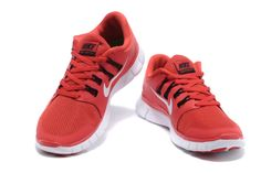 Challenge Red White Black Nike Free 5.0 Men\u0026#39;s Running Shoes #Red #Womens #Sneakers