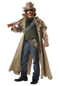 Zombie Hunter Halloween Costumes...would be amazing if I could get my husband into the Halloween spirit and dress up like a Zombie Hunter!