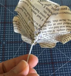 Book Page Roses : 5 Steps (with Pictures) - Instructables Diy Arts And Crafts, Crafts To Do, Paper Crafts, Diy Crafts, Design Crafts, Paper Art, Crepe Paper Roses, Paper Flowers, Tissue Flowers