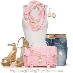 Cute Pink & Beige Summer Outfit                          #abbigliamento
