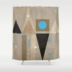 Geometric/Abstract 7 shower curtain by ViviGonzalezArt