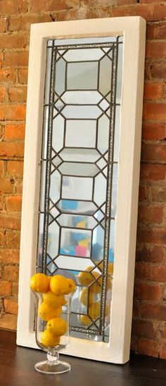 Vintage Upcycled Window Mirror by SpicyMarshmallow on Etsy