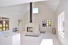 swedish loft house with concrete fireplace feature 2 Swedish Loft House with Concrete Fireplace Feature