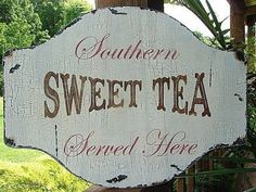 Southern sweet tea served here.