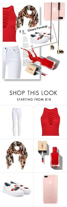 """""""Valentine2017❤."""" by findself ❤ liked on Polyvore featuring Barbour, WithChic, Burberry, Chiara Ferragni and Caeden"""