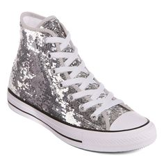 80fe3f28378 Converse Chuck Taylor All Star High-Top Sequin Womens Sneakers Converse  Tennis Shoes