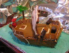 Gingerbread Pirate Ship 3 by celacia.deviantart.com on @DeviantArt