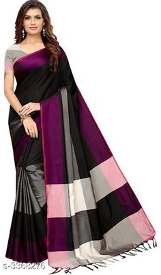 Checkout this latest Sarees Product Name: *Trendy Attractive Women's Sarees* Saree Fabric: Cotton Silk Blouse: Separate Blouse Piece Blouse Fabric: Cotton Silk Multipack: Single Sizes:  Free Size Country of Origin: India Easy Returns Available In Case Of Any Issue   Catalog Rating: ★4.1 (1565)  Catalog Name: Trendy Attractive Eva Cotton Silk Women'S Sarees CatalogID_466917 C74-SC1004 Code: 262-3368276-795