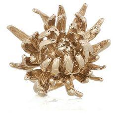 Chrysanthemum Ring Gold, by Alexander McQueen - Curve Soleil
