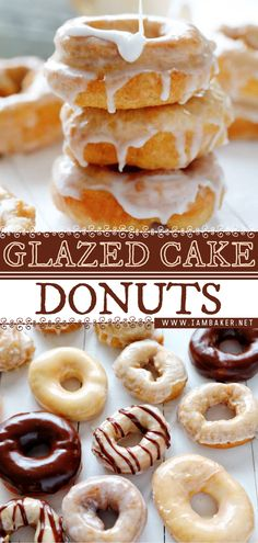 Homemade Desserts, Easy Desserts, Dessert Recipes, Baked Donut Recipes, Baked Donuts, Cake Recipes From Scratch, Breakfast Items, Cake Flavors, Sweet Bread