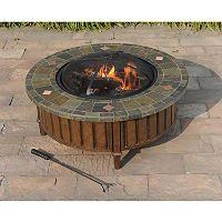 Sunjoy 40 Hot Springs Fire Pit Sam S Club Wood Burning Fire