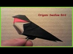 Paper Folding Tutorial - Origami Swallow Bird - YouTube