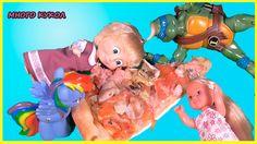 Барби Маша и Медведь Планета пиццы Мультик из Игрушек Игры для девочек н...