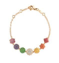 Caspita Multicolor Indienne 7 Chakras Bracelet – Yellow Gold, Multicolor Gemstones and Diamonds