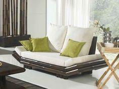 Canapé en bambou Lotus Haut de Gamme. Lotuséa