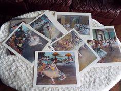VINTAGE 6 EDGAR DEGAS ART PRINTS DANCERS BALLET BALLERINA PORTFOLIO PENN LOUVRE Penn, Edgar Degas, Stamp Collecting, Louvre, Polaroid Film, Ballet, Vintage, Art, Art Background