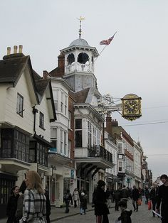 Guildford Town Center ~ Surrey, England - lived near here for many years.