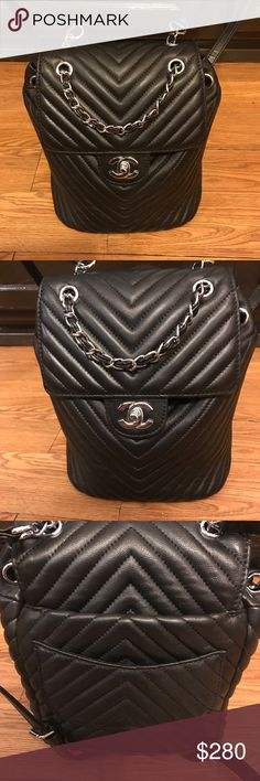 Urban Spirit backpack 🎒 Real leather urban spirit Chanel inspired backpack 🎒 love this bag but it's a little small compared to the bags I normally carry! Price is negotiable Happy Poshing!! ❤️ ships same day! Bags Backpacks