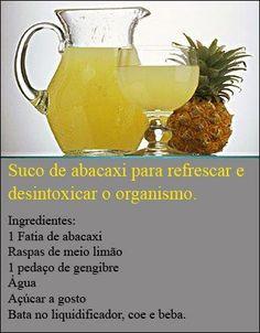 suco de abacaxi para desintoxicar