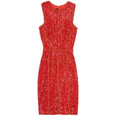 ELIE SAAB Sequin and Lace Dress (90.116.215 VND) ❤ liked on Polyvore featuring dresses, vestidos, elie saab, short dresses, red sequin dress, mini dress, red lace dress, red lace cocktail dress and lace mini dress