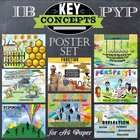 IB PYP Key Concepts Posters for A4 paper.  These are sure to attract the attention of students!!