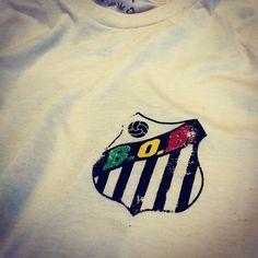 "Chest badge detail on my ""Santos Rasta"" shirt design."