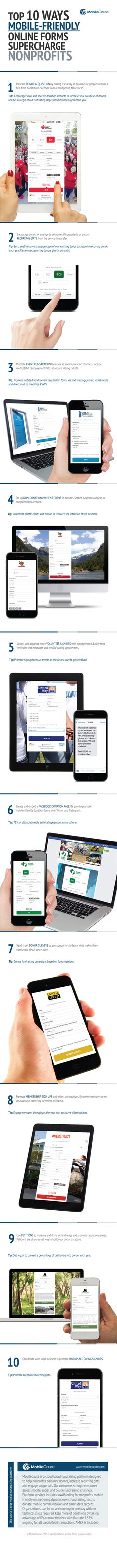 Mobile Fundraising For Nonprofits - Does your non-profit organization want to raise more money online? Focus on improving your mobile fundraising by making it faster and easier to get donations with better mobile forms.
