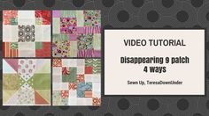 Video tutorials: disappearing 9 patch blocks