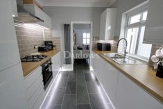 2 bedroom terraced house for sale in Clifton Street, Cardiff - Rightmove 1970s Kitchen Remodel, Galley Kitchen Remodel, New Kitchen Cabinets, 1960s Kitchen, Ranch Kitchen, Long Kitchen, Narrow Kitchen, Kitchen Sinks, Dark Cabinets