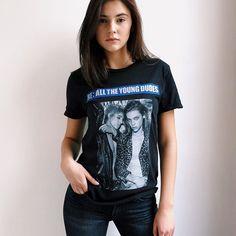 @stefaniegiesinger rocking the limited-edition #FW16 #ReQuestModelsFW shirt   by @yelenalena  #ReQuestModels #StefanieGiesinger