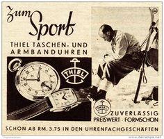 Original-Werbung / Anzeige 1938 - THIEL TASCHEN - UHREN UND ARMBANDUHREN - ca. 80 x 65 mm